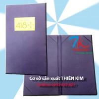 Nơi sản xuất bìa sơ mi da, bìa menu da giá rẻ, bìa thực đơn nhà hàng, bìa sổ tay