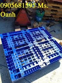 Pallet nhựa mới xanh 1200x1000x150mm, nhựa mới 100% tại quảng ngãi 0905681595