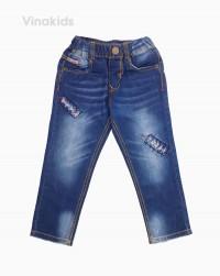 Quần jeans dài bé trai đắp rách 22125 (7-11 tuổi)