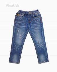 Quần jeans dài bé trai mài màu nhạt 32097 (12-16..