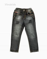 Quần jeans dài bé trai rách màu đen 32081 (12-16..