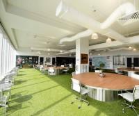 Sử dụng cỏ nhân tạo trang trí nội thất văn phòng