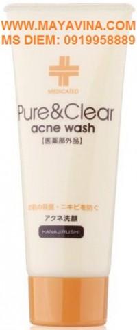Sửa rửa mặt hanajirushi pure & clear acne wash chuyên trị mụn