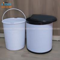 Thùng rác xoay cánh 14 lít gắn dưới bồn rửa chén trong tủ bếp dưới