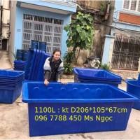 Thùng nhựa 1100 lít nuôi cá cảnh lhe 0967788450 ngọc