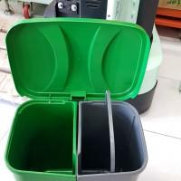 Thùng rác 2 ngăn 40l nhựa hdpe