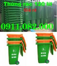 Thùng rác công cộng, thùng rác y tế, thùng rác 120 lít, xe gom rác giá rẻ