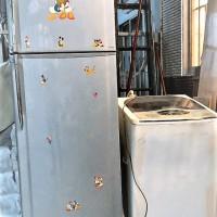 Tủ lạnh (model toshiba gr-h23vpd) 228 lít + máy giặt cửa trên (model sanyo asw-u