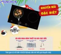 ưu đãi giá cực sốc cho bộ thiết bị mua kèm bếp từ munchen