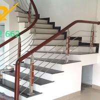 ưu điểm nổi bật của cầu thang inox 304 tay vịn gỗ lim nam phi