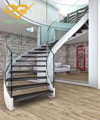 ưu điểm và chức năng nổi bật của cầu thang xoắn kính