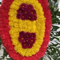 Vòng hoa giá rẻ tại nhà tang lễ 103 hà đông
