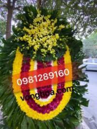 Vòng hoa tang lễ cúc vàng tại hà nội
