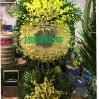 Vòng hoa viếng tại nhà tang lễ 198 trần bình