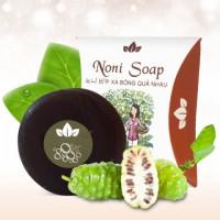 Xà bông nhàu - noni soap   sạch da, giảm đau khớp, tẩy tế bào chết