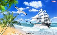 Mẫu tranh thuyền buồm