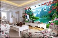 Tranh 3d- gạch tranh phong cảnh 3d cao cấp