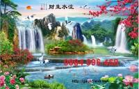 Tranh gạch men 3d phong cảnh thiên nhiên