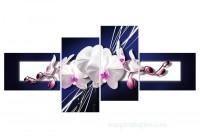 Tranh hoa lan trắng đẹp hcm