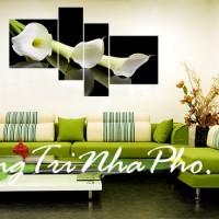 Tranh treo tường hoa lan tím khoe sắc